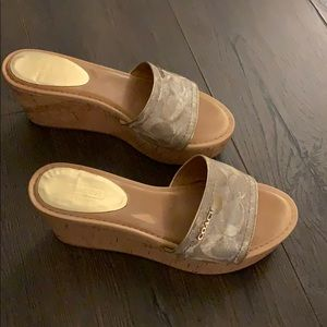 Coach Slide Wedge Sandals